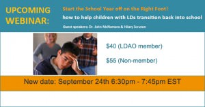 How to Help Children with LDs Transition Back to School