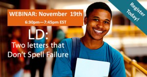 Webinar - LD: Two Letters that Don't Spell Failure